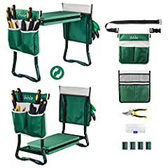 【UPGRADED VERSION WITH DETACHABLE BELT】It comes with a adjustable belt that can be connected to one of the pouches. You can hang the pouch on your garden kneeler, or attach it to the belt. Unique and functional design makes your garden work easier. 【...