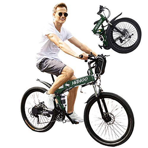 26 Mountain Bike Men, Outdoor Sports High Carbon Steel Folding Full Suspension MTB Bicycle, Aluminum Wheel Rim, 21-Speed Rear Derailleur, Suitable for Adults,College Students,Cycling Enthusiasts