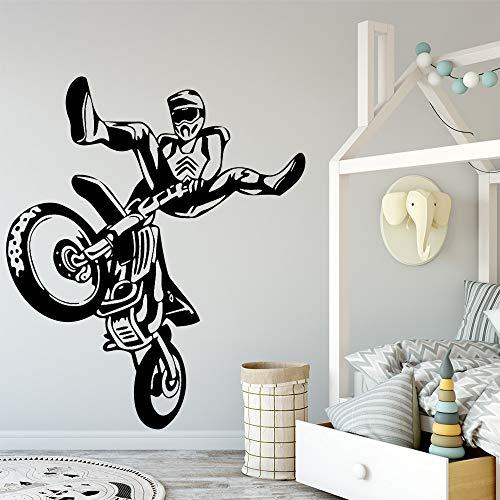 Tianpengyuanshuai Motorrad Wandtattoo Leichtathletik Liebhaber Liebhaber Wandkunst Aufkleber 36X42cm