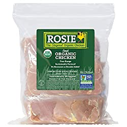 Rosie Organic Chicken Thighs, 1.4 lbs, Boneless Skinless Individually Wrapped