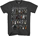 Star Wars Character Toys Jedi Rise Skywalker Vintage Retro Classic Adult Men's Graphic Tee T-Shirt (Black, Medium)