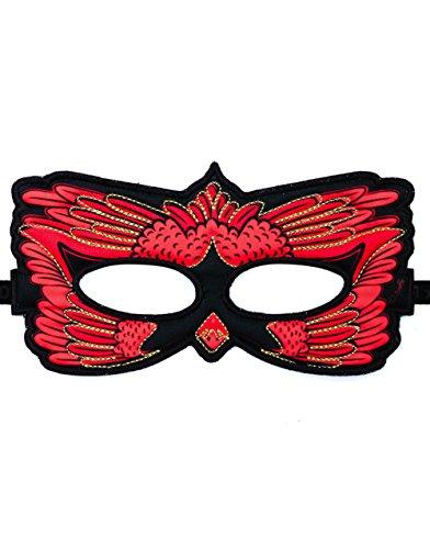 Dreamy Dress-Ups 67978 masker, stofmasker, cardinal, vogel rood cardinalis cardinalis