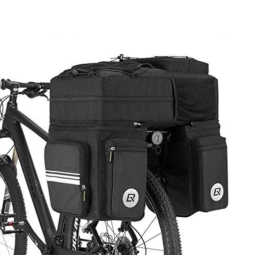 ROCKBROS Sacoche Porte-bagages de vélo 3 en 1 Détachable - 1 Sac à dos et 2...