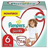 Pampers Baby Windeln Pants Größe 6 (15+ kg) Premium Protection, 116 Höschenwindeln, MONATSBOX