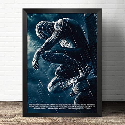 5d DIY Diamante Pintura araña Super Diamante Hombre Mosaico Bordado Punto de Cruz héroes decoración del hogar (Cuadrado 30x40 cm)
