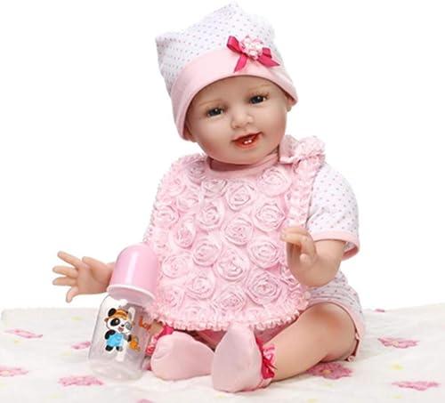 O-YLS Weißes Silikon Vinyl Magnetisch Baby Dolls 22Zoll 5cm Handarbeit Reborn Babys Puppe mädchen Augen Offen