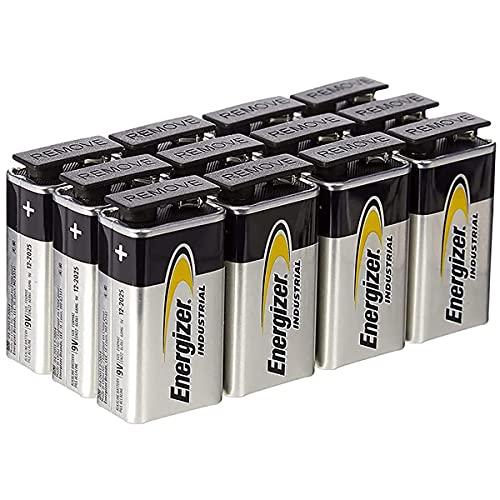 Energizer - Pack de 12 Pilas Alkalinas 9 Voltios