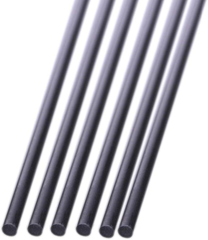 Isali 5pcs Carbon Fiber Rod Dia 1mm 2mm 3mm 4mm 5mm 6mm 7mm 8mm 10mm 11mm 12mm Length 500mm 3 Fibra de carbono  (color  7mm)