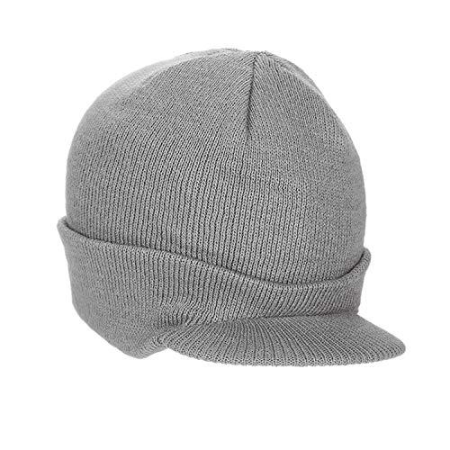 YJZQ Casquette Visière d'hiver Homme Bonnet visière Adulte Chapeau élastique Tricoté Chapeau Hiver pour Faire du Ski Bonnet du Sport