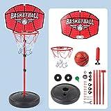 Rich-home Basketballkorb Set, verstellbares Basketballständer Kinder von 116 cm bis 150 cm, tragbares