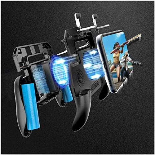 Yppss Gamepad-Controller Telefon Gamepad Mobil-Trigger L1R1 Shooter Joystick Game Pad-Halter Kühler Lüfter mit 2000 / 4000mAh Energien-Bank-Gamepad (Farbe: 4000mAh Energien-Bank) Eternal