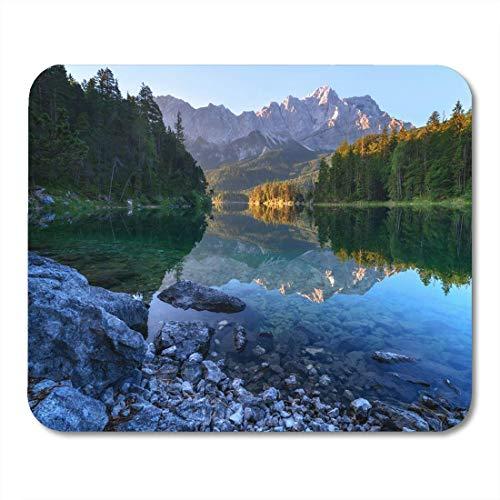 Mau Mat,Fantastischer Sonnenuntergang Am Bergsee Eibsee Befindet Sich In Der Funktionalen Computer Pad Mat,30*25cm
