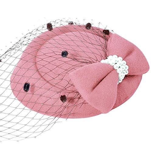 SOROPTLE Dames hoed met bruiloft cocktail partij kerk jurk fedora sluier boog hoed hoofdtooi
