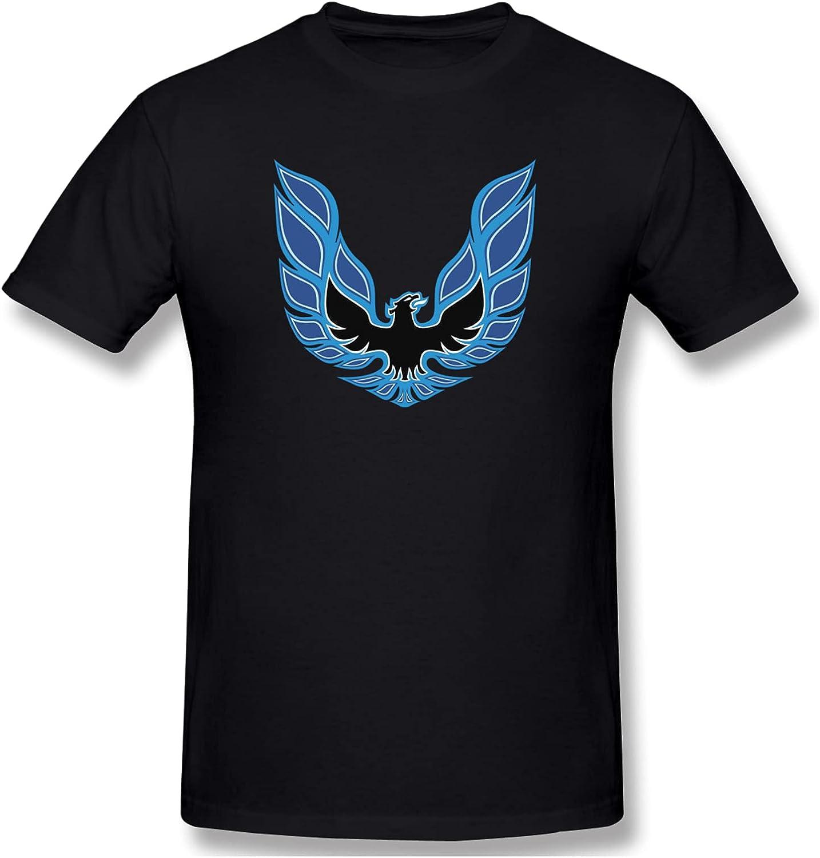 Trans Am Firebird Logo Men's T-Shirts Short-Sleeve Crew Neck Shirts Classic Henley Shirts Casual Shirt