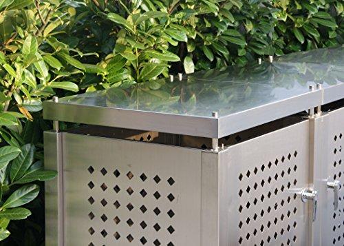 Mülltonnenbox für vier Mülltonnen 240 l - 3