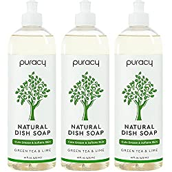 Puracy Dish Soap, Natural Liquid Detergent