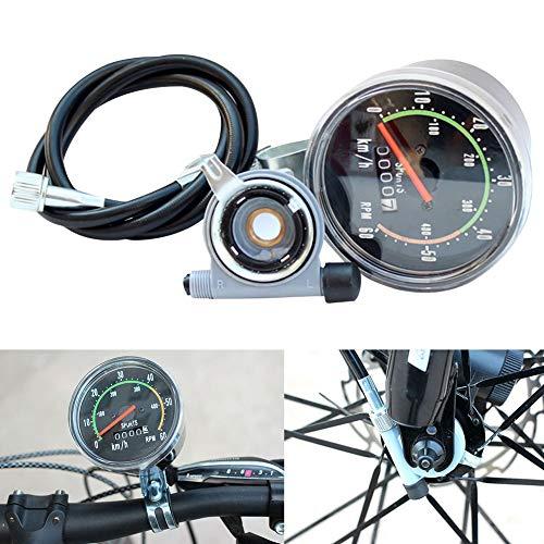 KOET - Velocímetro mecánico para bicicleta, cronómetro mecánico universal, estilo antiguo, tabla de código mecánico, analógico, odómetro clásico, color 1 unidad.