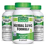Botanic Choice Herbal Lung Formula - Adult Daily Supplement - Respiratory and Pulmonary System Support Promotes Healthy Breathing and Bronchial Function 30 Capsules