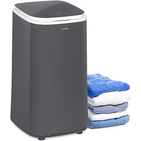 KLARSTEIN Zap Dry - Sèche-Linge, 820 W, capacité: 50 L, Design UniqueDry, Compact, Tambour en INOX, boîtier en Plastique, Commande Tactile, Couvercle en Verre de sécurité - Gris