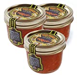 Tsar s Salmon (Red) Caviar 200 g (7 oz.). Pack of three jars