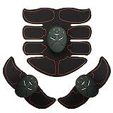 SJCC Estimulador Muscular Abdominales, ABS Masajeador Eléctrico con USB, EMS Muscular Eléctrico Cinturón Abdomen/Brazo/Piernas/Glúteos6