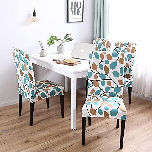 Rimovibile 2/4/6 pezzi di sedia da pranzo elastica Coprisedia per ristorante dell'hotel Banchetto di nozze per hotel 6 pezzi Colore 22