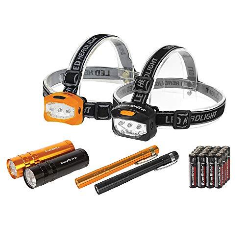 LED Flashlight, Penlight and Headlamp Combo