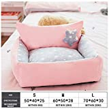 Kennel Dog Bed Removable And Washable Kennel Dog House Cat House Teddy Small Medium-Sized Dog Bed Pet Supplies Dog Beds for Small Dogs L Graypentagram