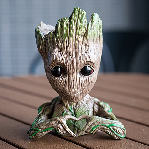 Meiqils Maceta Groot Flower Pot, Guardianes de la Galaxia Figura Groot