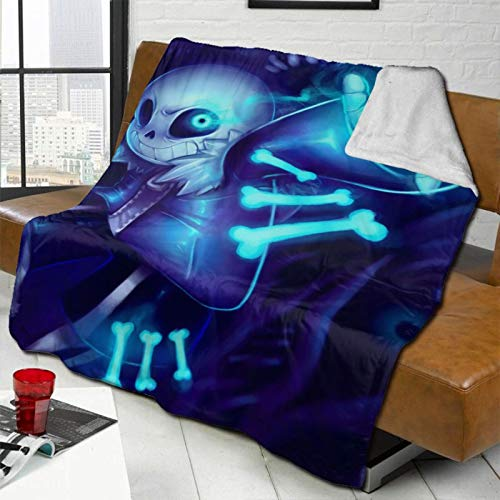 Undertale Blanket Luxury Flannel Fleece Blanket Lightweight Super Soft Cozy Bed Blanket Sofa Blanket 50x40 Inch for Kids