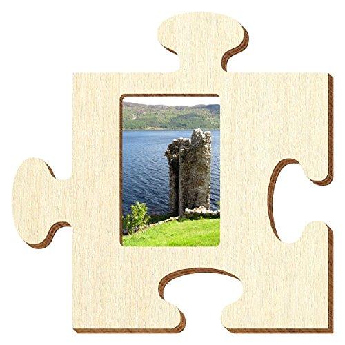 Bütic Sperrholz Foto Puzzle Bilderrahmen naturbelassen, Größe:Foto hoch 10x15cm
