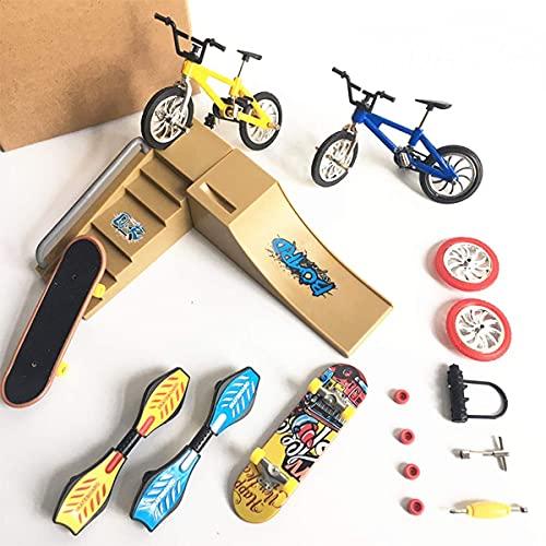 Mini Scooter Scooter de dos ruedas para niños, juguetes educativos, scooter de dedo, monopatín, monopatín [entrega de color aleatorio] - No apto para niños menores de 3 años