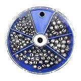 FREE FISHER Split Shot Fishing Weights, 205pcs Round Split Shot Sinker Removable Fishing Weights Sinkers 5 Sizes