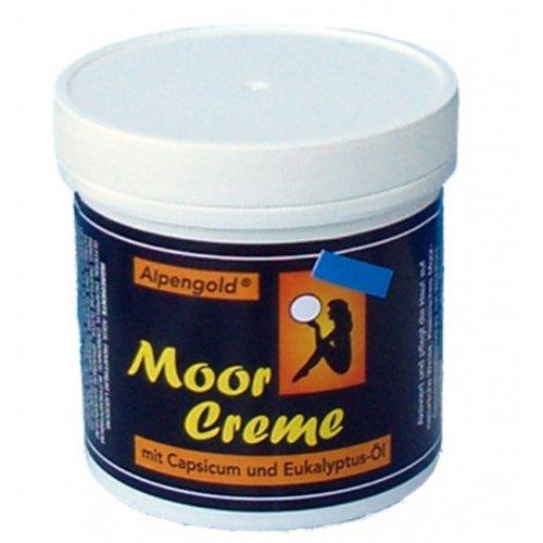 Alwag Moor Creme - 250 ml Moorcreme - mit Capsicum und Eukalyptus wohltuend für Gelenke und Muskeln, dermatologisch getestet - 2er Set