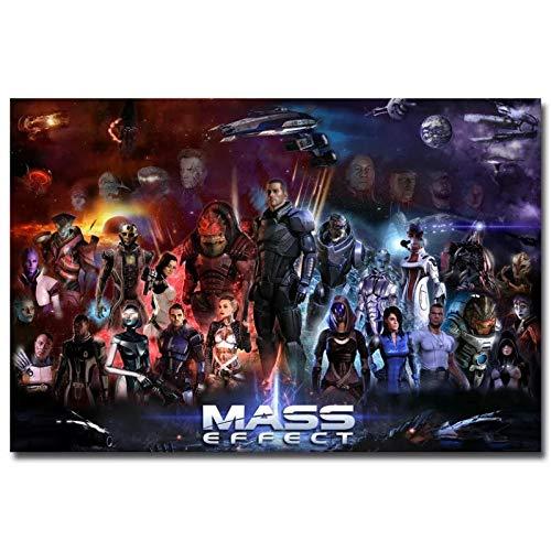 qianyuhe Imágenes artísticas de Pared, Carteles e Impresiones Mass Effect 4 Impresiones de Juegos Calientes, póster artístico para el hogar, decoración del hogar, 60x90cm (24x36inch