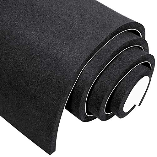 MAGZO Foam Insulation Neoprene Foam, 1/2 Inch Thickness x 12 Inch Width x 59 Inch Length Rubber Sheet & Roll with Adhesive Multi-Function Soundproof Rubber Foam Sheet