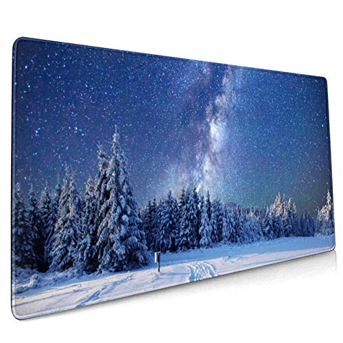 Milky-Way Large Extended Gaming Keyboard Mouse Pads Desk Mouse Mat for Laptop Home Office
