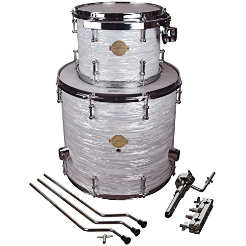 "Sawtooth Command Series Extension Tom Pack, 9"" Tom & 16"" Floor Tom, White Oyster"