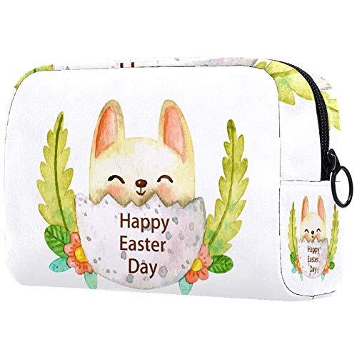 Bolsa de cosméticos de viaje grande para mujer – Neceser de viaje y maquillaje cosmético bolsa con muchos bolsillos, orangutanes con gafas rojas