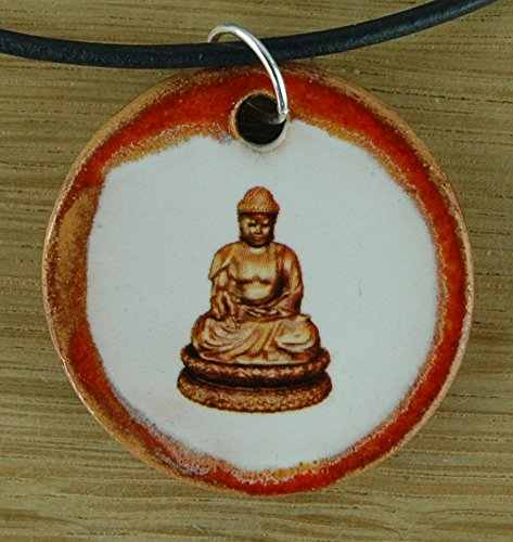 Echtes Kunsthandwerk: Toller Keramik Anhänger Buddha; Siddhartha, Gautama, Buddhismus, Reinkarnation, Weltreligion, Nirvana