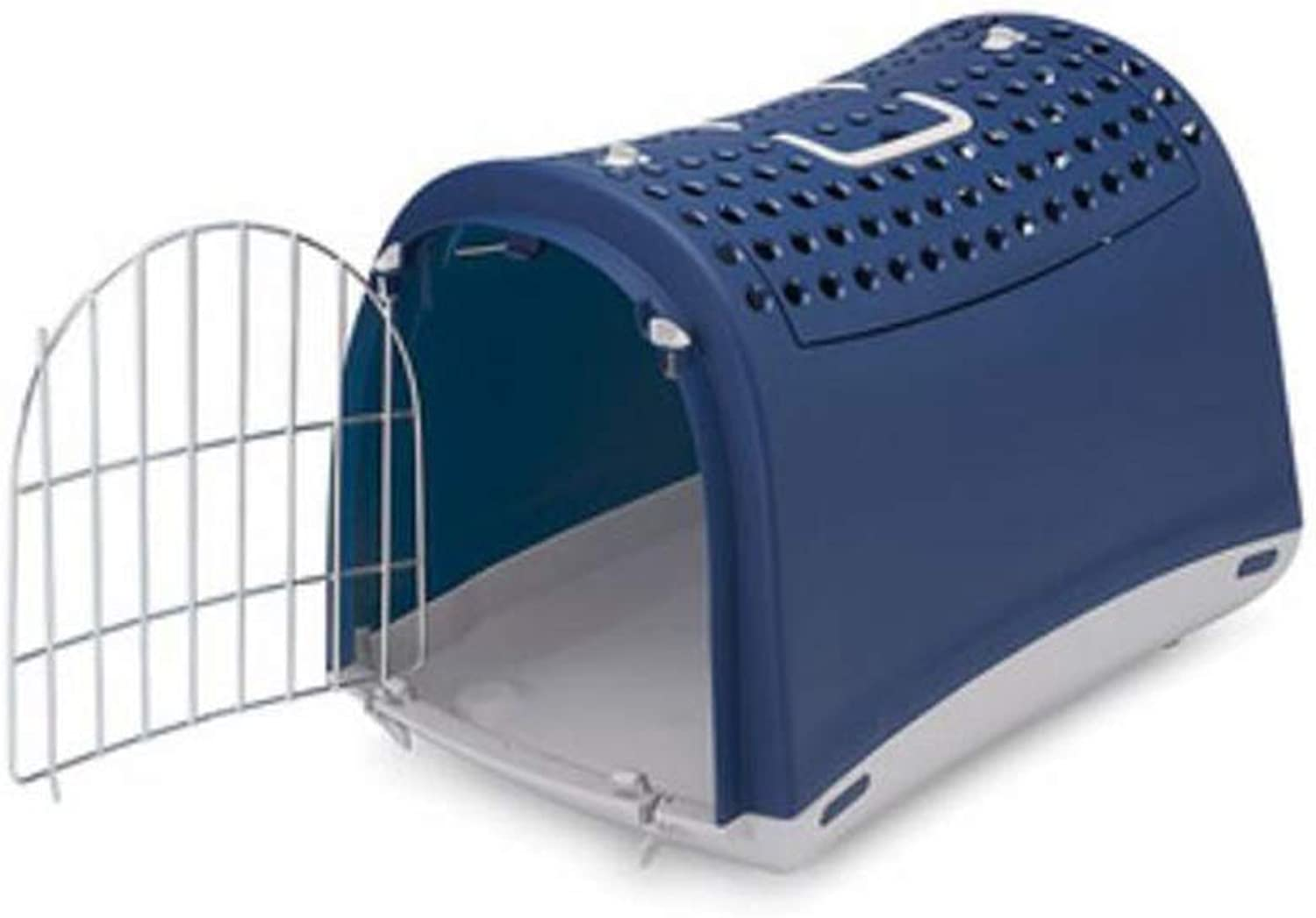 MIAOLIDP Pet Air Box  Dog Cat Outing Cage  Consignment  Skylight Portable Space Cat Bag  Cat Cage Pet cat carrier (color   bluee, Size   50x32x35cm)
