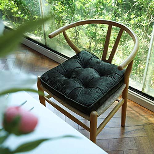 JIAN zitkussen zitkussen set 2 kussen stoelkussen 40 x 40 cm voor binnen en buiten van 100% katoen dik gewatteerd kleur fluweel
