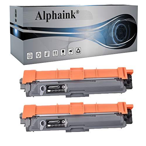 2 Toner Nero Alphaink Compatibili per Brother TN-241 TN-245 Brother MFC-9140CDN HL-3140CW DCP-9020CDW MFC-9340CDW HL-3150CDW MFC-9330CDW HL-3170CDW DCP-9022CDW DCP-9015CDW MFC-9332CDW
