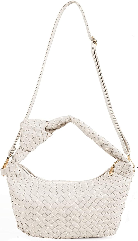 Women's Soft Faux Leather Tote Bag Top Handle Shoulder Bag Satchel Large Capacity Handbag (Nude)