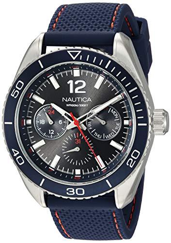 Nautica Herren Analog Quarz Uhr mit Nylon Armband NAPKBN003
