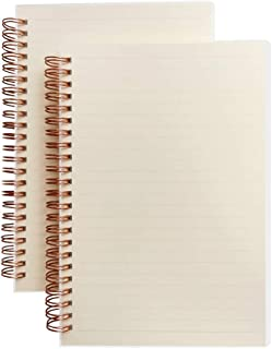 SPIRITMATE 2 Pack A5 Spiral Notebooks Hardcover 100g Thick Paper Dot/Ruled/Graph/Blank Bullet Journals,5.7 x 8.26inch, 70 Sheets/140 Pages Per Each Notebook (Ruled Line)
