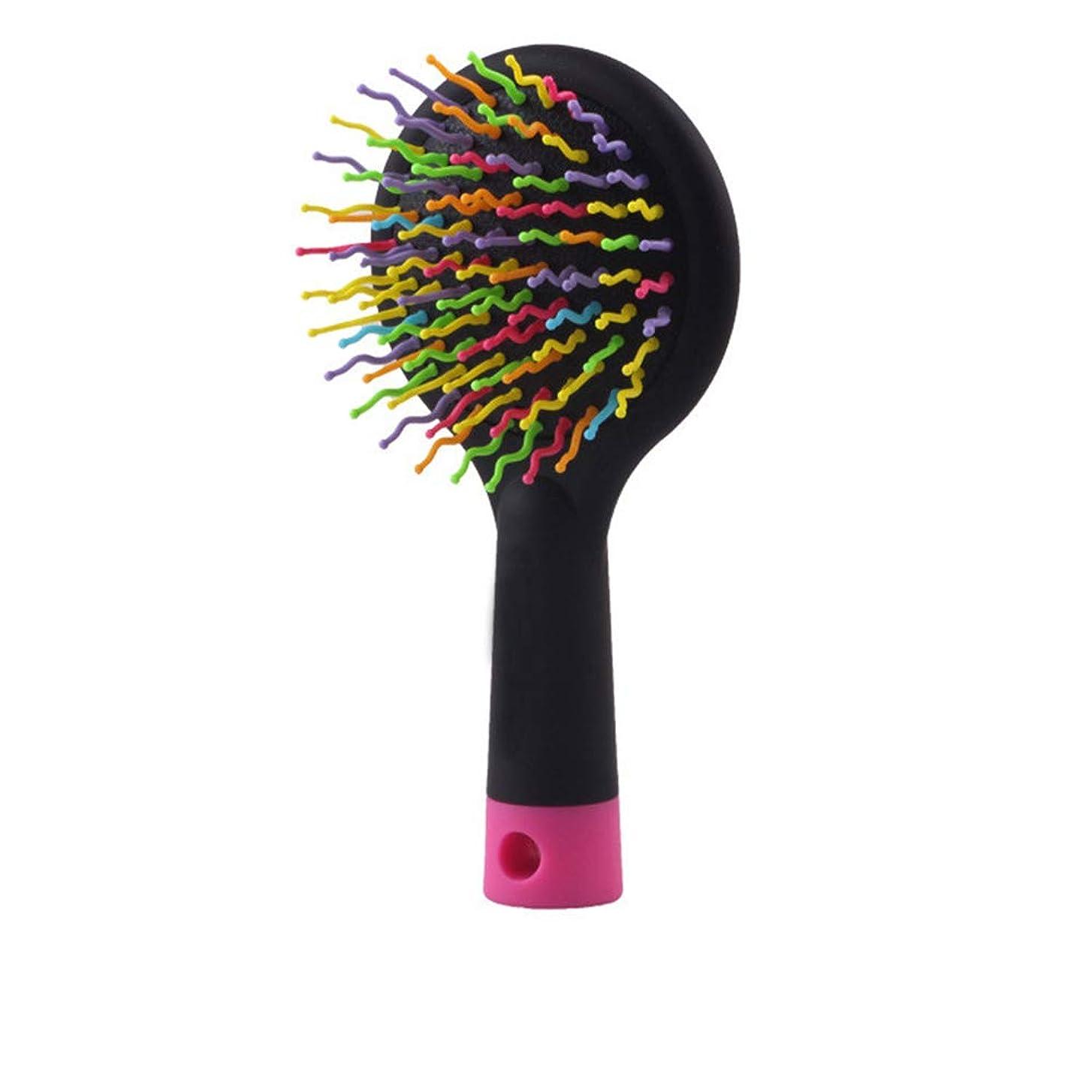 ナイトスポット深めるアレイ長い、厚い、波状の、波状の、乾燥した、または損傷した髪のための2個のヘアブラシ、毛の破損および縮れを減らす、