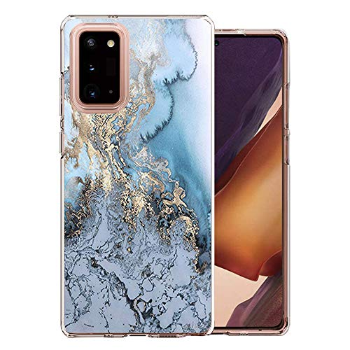 ZDO Clear Marble Samsung Galaxy Note 20 Case - Shockproof TPU Bumper Phone Case for Galaxy Note 20 Full Protection Cute Cell Phone Covers for Samsung Galaxy Note 20-3