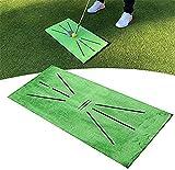 Osflydan Golf Training Mat, Swing Detection Batting Mini Golf Practice Training Aid Game, Portable Golf Training Turf Mat Gift for Home Office Outdoor Use (Golf Mat)