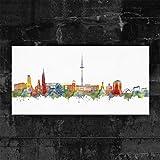 Kunstbruder Kiel Skyline - Light (div. Größen) - Kunst